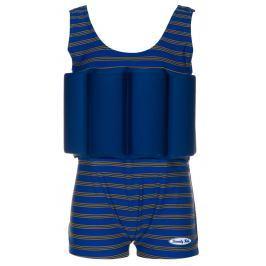 Beverly Kids Chlapčenské nadnášajúce plavky Cote d´Azur - modro-hnedé