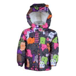PIDILIDI Dievčenská zimná bunda so zvieratkami - farebná