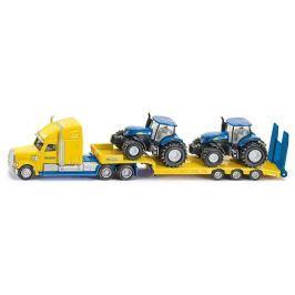 SIKU Super - Ťahač s vlekom a 2 traktory New Holland 1:87