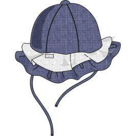 Cangurino Dievčenský klobúčik s volánikmi - modro-biely