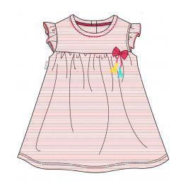 Cangurino Dievčenské pruhované šaty s mašličkou - farebné