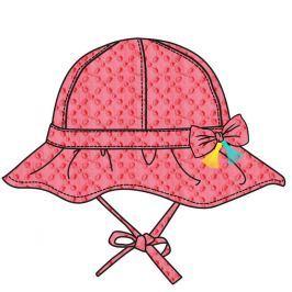 Cangurino Dievčenský klobúčik s mašličkou - ružový