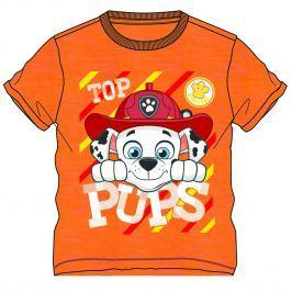 Disney by Arnetta Chlapčenské tričko Paw Patrol - oranžové