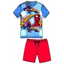 Disney by Arnetta Chlapčenský komplet trička a kraťasov Spiderman - červeno-modrý