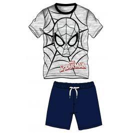 Disney by Arnetta Chlapčenský komplet trička a kraťasov Spiderman - modro-šedý