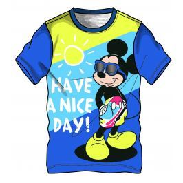 Disney by Arnetta Chlapčenské tričko Mickey Mouse - modré