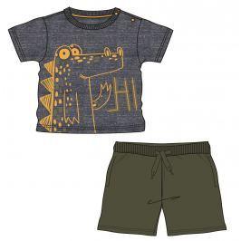 Mix 'n Match Chlapčenský komplet trička a kraťasov dinosaurus - farebný
