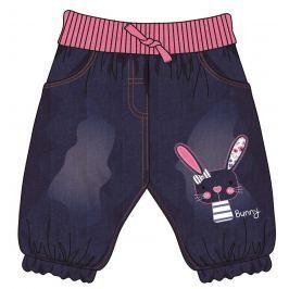 Mix 'n Match Dievčenské nohavice so zajačikom - modré