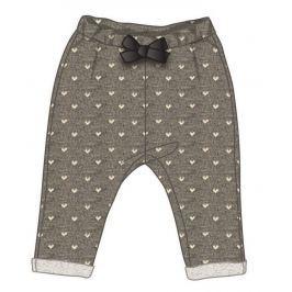 Mix 'n Match Dievčenské bodkované nohavice s mašličkou - šedé