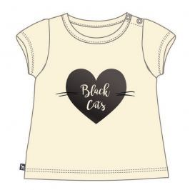 Mix 'n Match Dievčenské tričko Black Cats - béžové