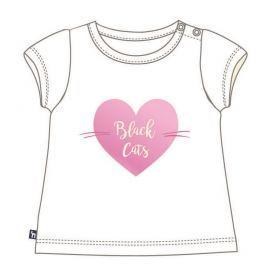 Mix 'n Match Dievčenské tričko Black Cats - biele