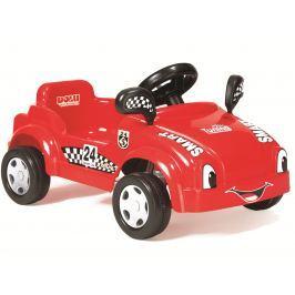 DOLU Veľké šliapacie auto s klaksónom Červené