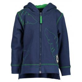 Blue Seven Chlapčenská mikina - modro-zelená