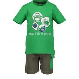 Blue Seven Chlapčenský komplet trička a kraťasov - zelený