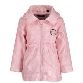 Blue Seven Dievčenský kabát s bodkami - ružový