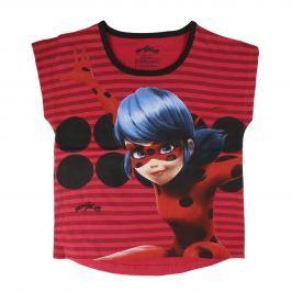 Disney Brand Dievčenské tričko Ladybug - červené