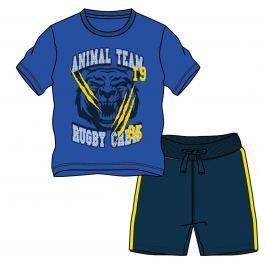 Mix 'n Match Chlapčenský komplet trička a kraťasov - modrý