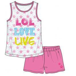 Mix 'n Match Dievčenská súprava tielka a kraťasov - bielo-ružový