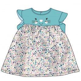 Mix 'n Match Dievčenské kvetované šaty - tyrkysové