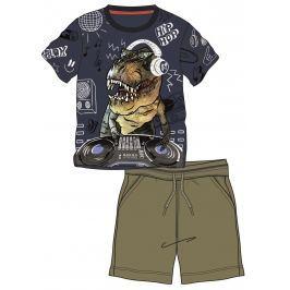 Mix 'n Match Chlapčenský set kraťasov a tričká s dinosaurom - farebný