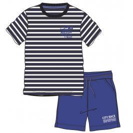 Mix 'n Match Chlapčenský komplet trička a kraťasov - modro-biely