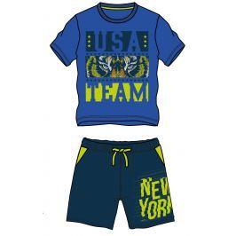 Mix 'n Match Chlapčenský komplet kraťasov a trička - modrý