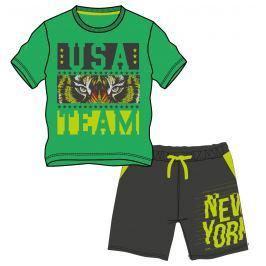 Mix 'n Match Chlapčenský komplet kraťasov a trička - zeleno-šedý
