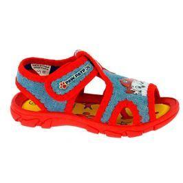 Disney by Arnetta Chlapčenské sandále Paw Patrol - modro-červené