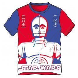 Disney by Arnetta Chlapčenské tričko Star Wars - modro-červené