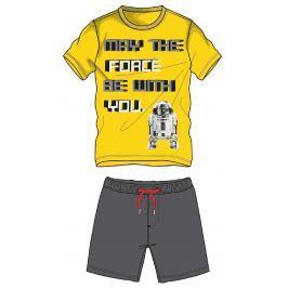 Disney by Arnetta Chlapčenský komplet trička a kraťasov Star Wars - žlto-šedý