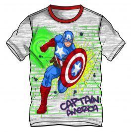 Disney by Arnetta Chlapčenské tričko Avengers - sivé