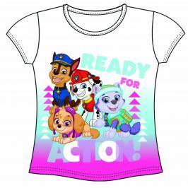 Disney by Arnetta Dievčenské tričko Paw Patrol - biele