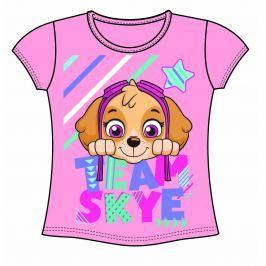 Disney by Arnetta Dievčenské tričko Paw Patrol - ružové