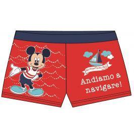 Disney by Arnetta Chlapčenské plavky Mickey Mouse - červené