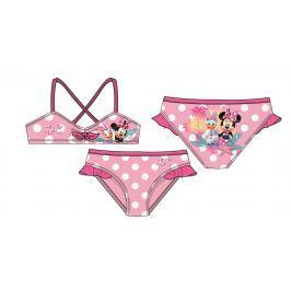 Disney by Arnetta Dievčenské dvojdielne plavky Minnie - ružové