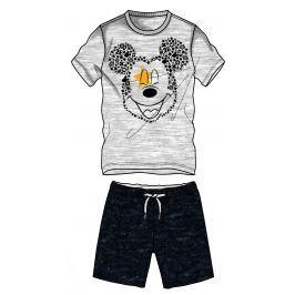 Disney by Arnetta Chlapčenský komplet trička a kraťasov Mickey Mouse - šedo-čierny