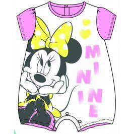 ef7075675a9c Detail · Disney by Arnetta Dievčenský overal Minnie - bielo-ružový