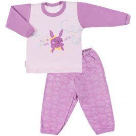 Ewa Klucze Dievčenské pyžamo Little Mooin - fialová
