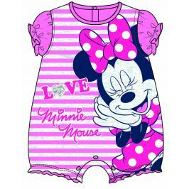 Disney by Arnetta Dievčenský overal Minnie - ružový