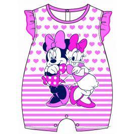 Disney by Arnetta Dievčenský overal Minnie a Daisy - ružový
