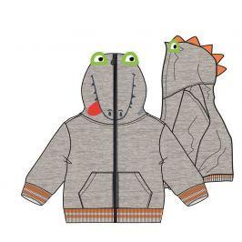 Mix 'n Match Chlapčenská mikina s dinosaurom - šedá