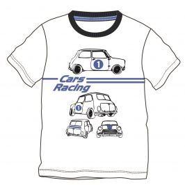 Mix 'n Match Chlapčenské tričko s autami - biele