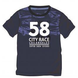 Mix 'n Match Chlapčenské tričko s potlačou - modré