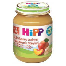 HiPP NE BIO Jablká s banánmi a broskyňami 6x 125g