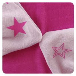 XKKO Bambusové obrúsky Stars 30x30 cm, 9ks, Magenta stars mix