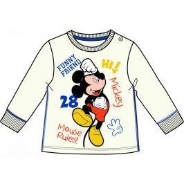 Disney by Arnetta Chlapčenské tričko Mickey - béžové