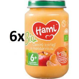 Hami BIO príkrm ovocný koktail s mandarínkou, 6x200g