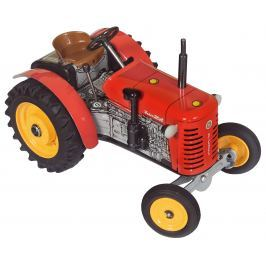 KOVAP Traktor Zetor červený na kľúčik kov 14 cm 1:25