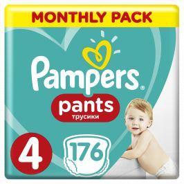 """Pampers Plienkové nohavičky Pants 4 Mesačné balení8-14 kg, 176 ks """""""