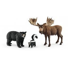 Schleich Súprava lesné zvieratká severnej Ameriky 41456